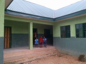 Newly renovated classroom with the assistance of Win Foundation